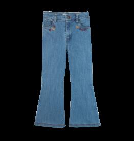 Ammehoela AM - Flair Pants Denim Blue - Livdnm