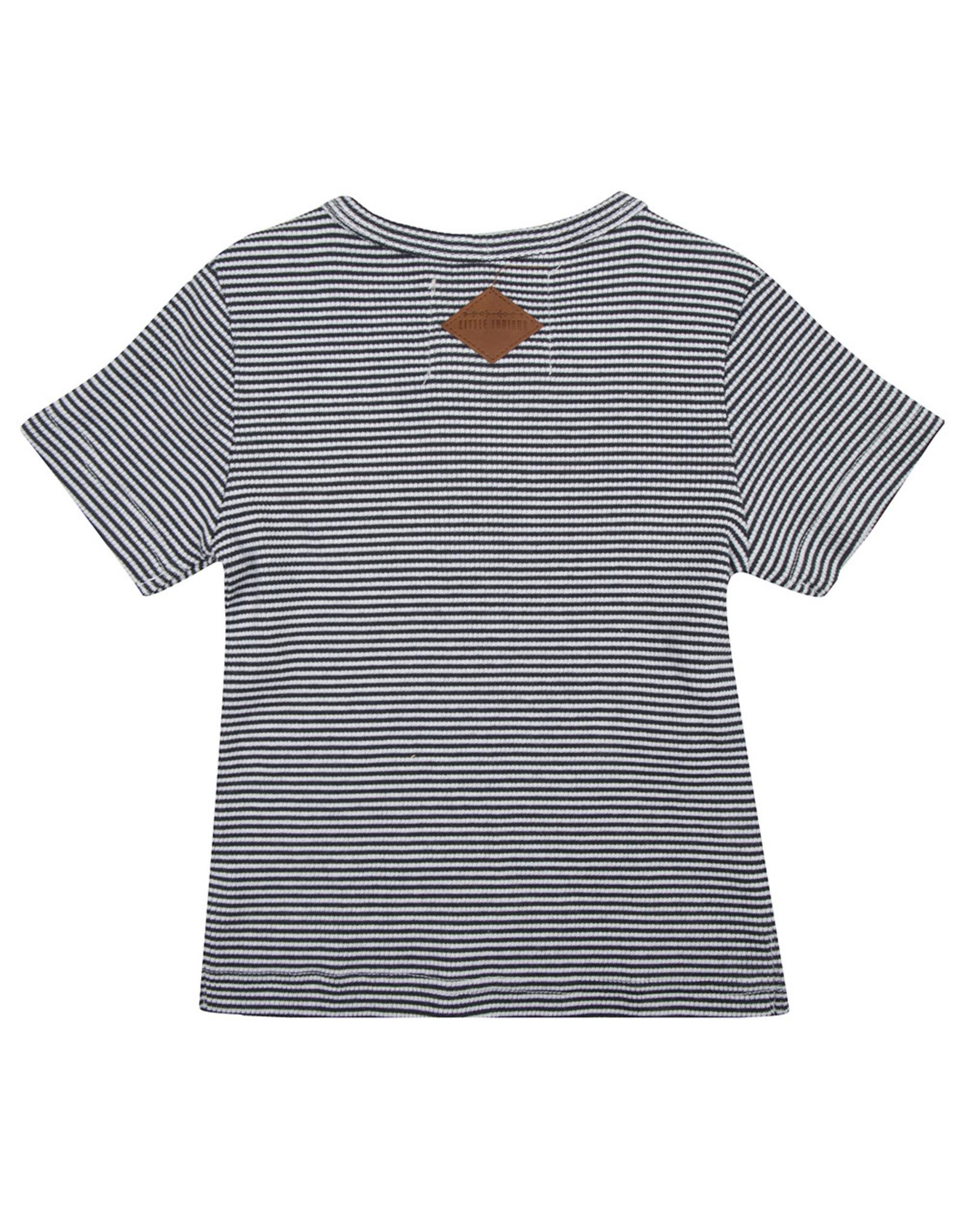Little Indians Shirt Balloon - Small Stripe Rib