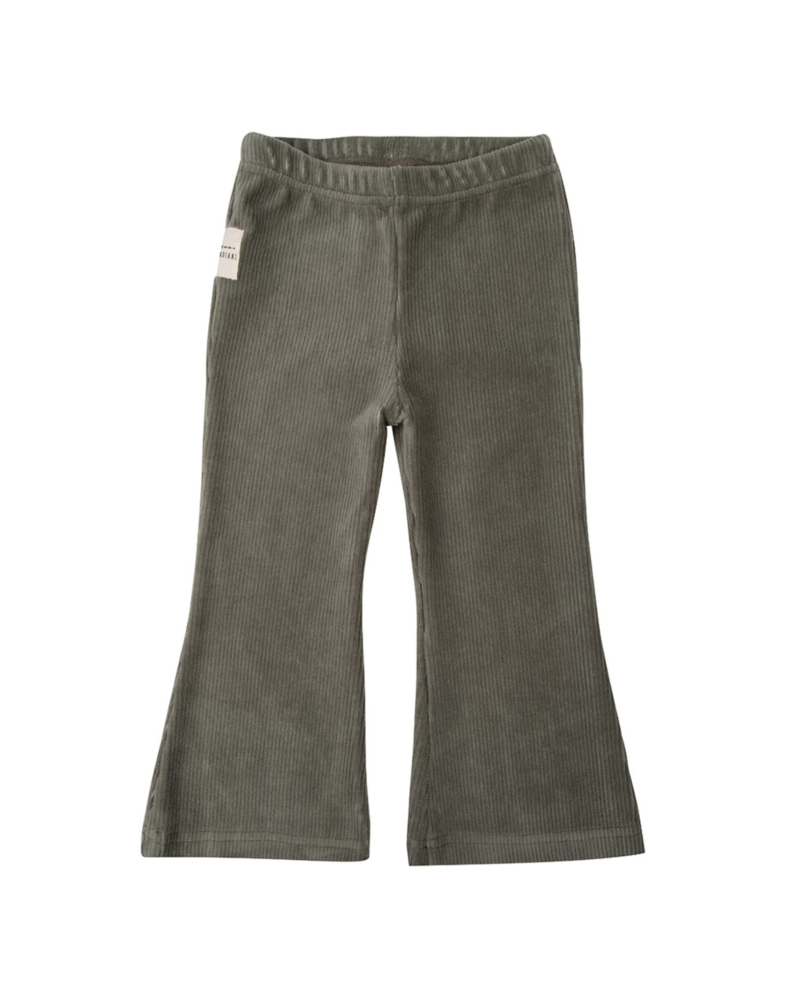 Little Indians Flared Pants - Corduroy Green