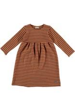 My Little Cozmo Dress Kids Stripes Rust - Mirna