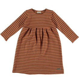 My Little Cozmo Dress Kids Stripes Rust - Mirna