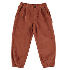 My Little Cozmo Trousers Kids Dots Rust - Dona