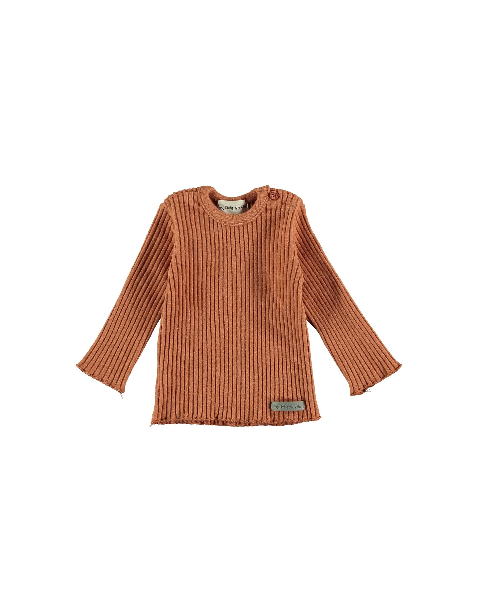 My Little Cozmo Rib Jersey Baby Rust - Portree