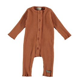 My Little Cozmo Jumpsuit Baby Rib Rust - Flannan