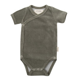 Little Indians LI - Onesie Shortsleeve Corduroy Green