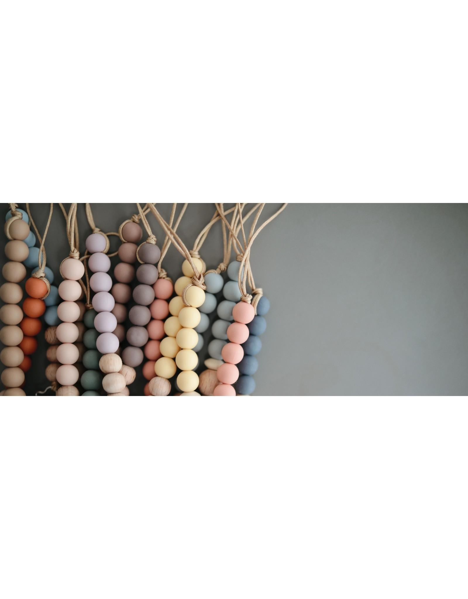 Mushie MUSHIE - Speenkoord Blush/Wood