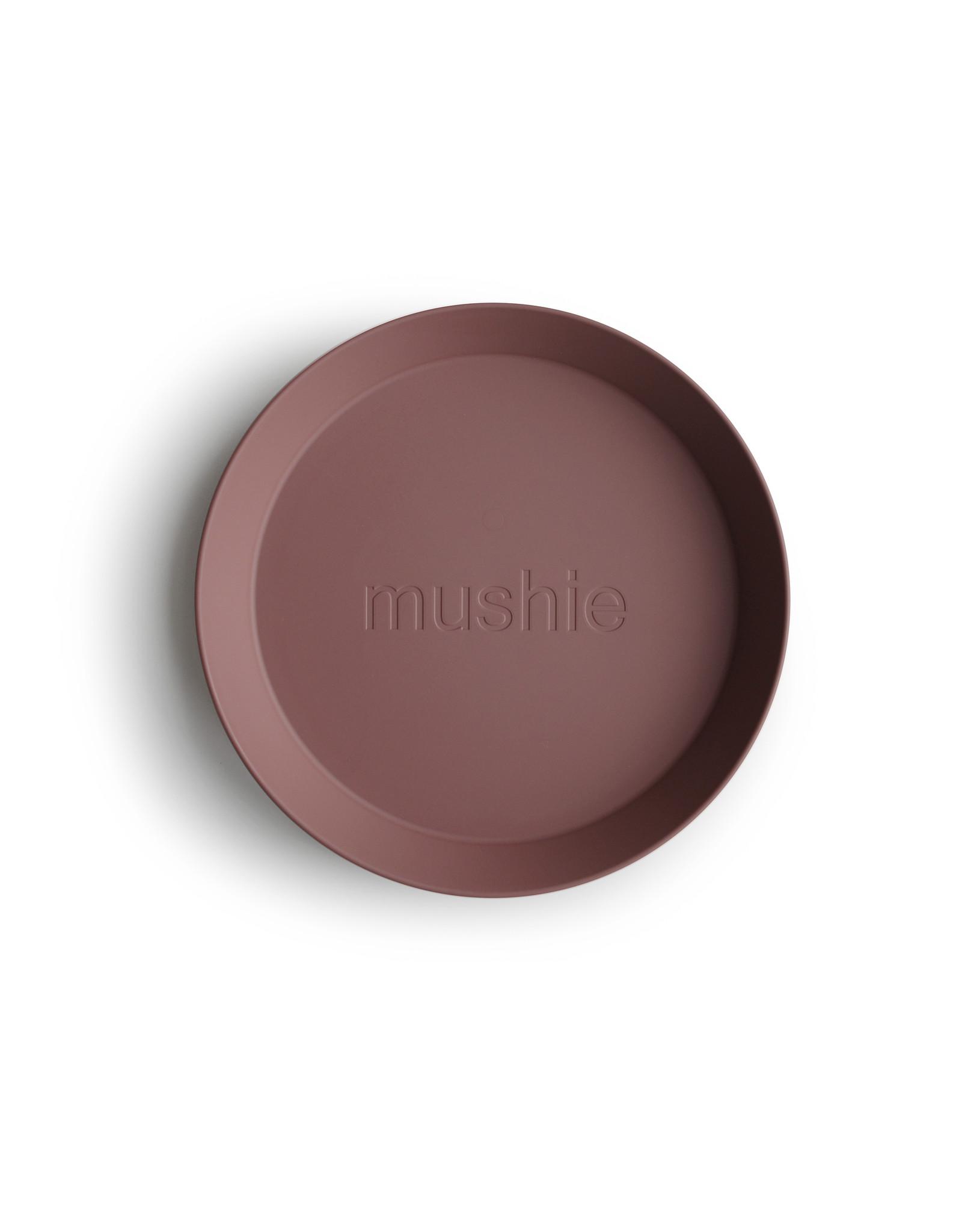 Mushie MUSHIE - Plates Round Woodchuck