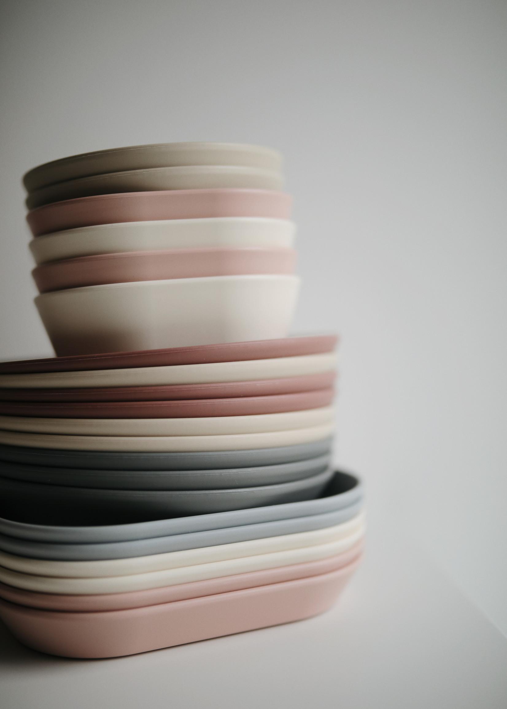 Mushie MUSHIE - Plates Square Blush