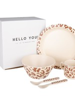 Little Indians Tableware - set Leopard