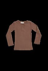 Blossom Kids Long sleeve shirt, henley - soft rib Hazelnut