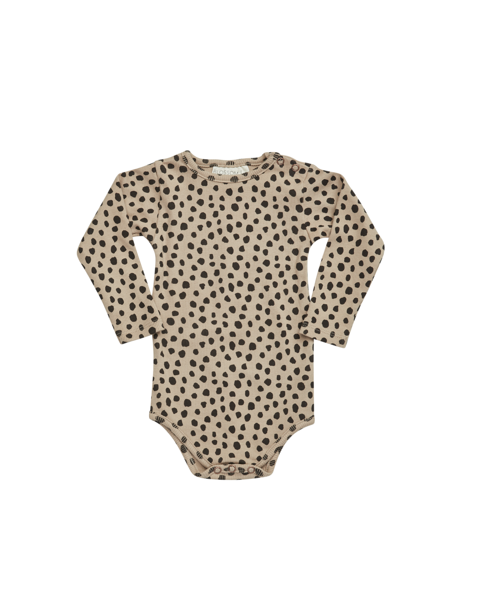 Blossom Kids Printed ribbed body - Animal Dot warm sand