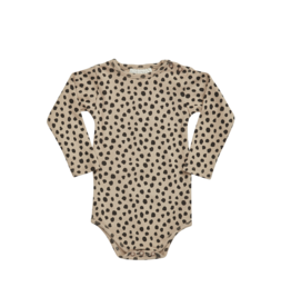 Blossom Kids BK - Printed ribbed body - Animal Dot warm sand