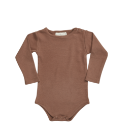 Blossom Kids BK - Body long sleeve - soft rib Hazelnut