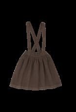 Blossom Kids Suspender Skirt - Dark chocolate