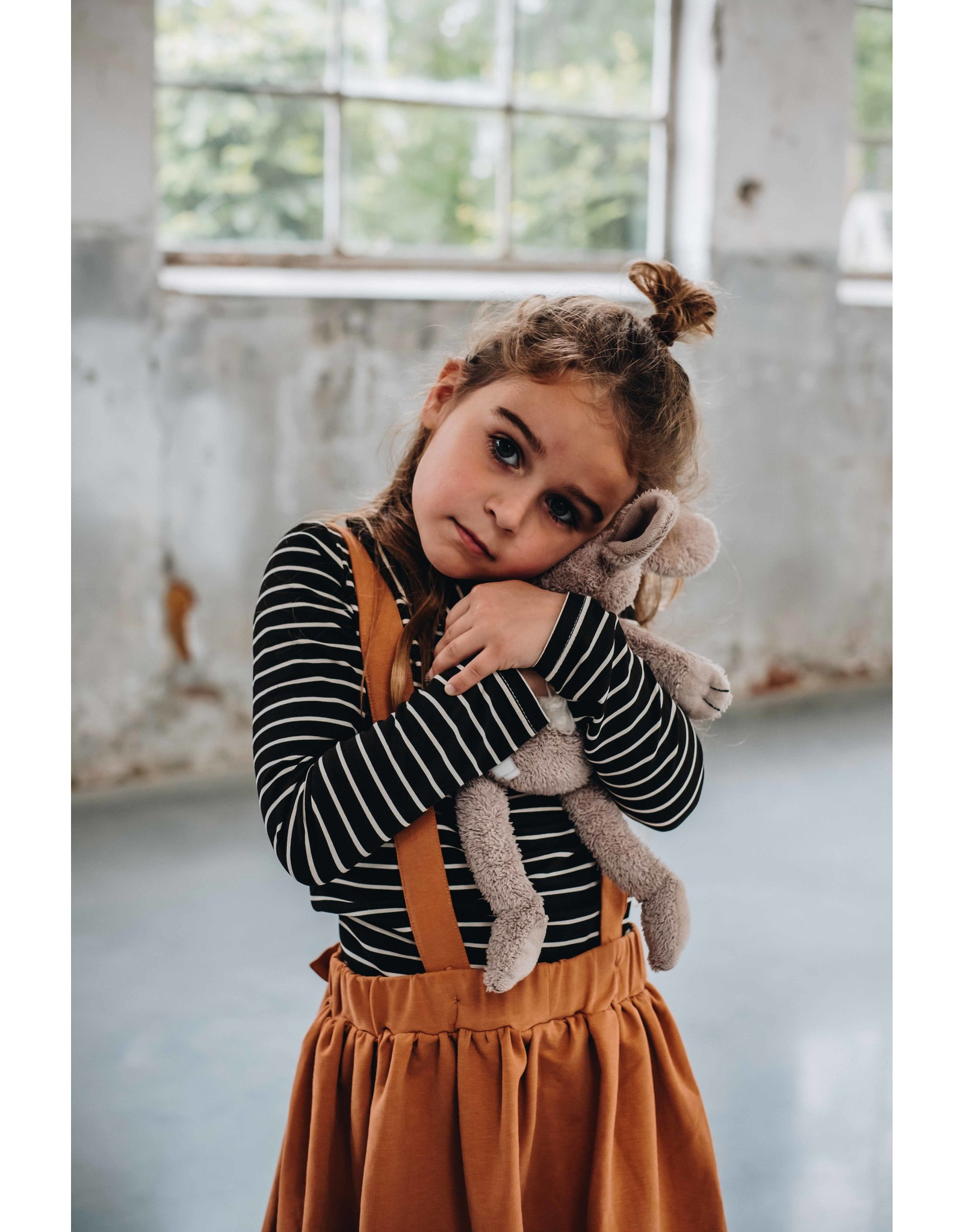 Blossom Kids Suspender Skirt - Caramel fudge