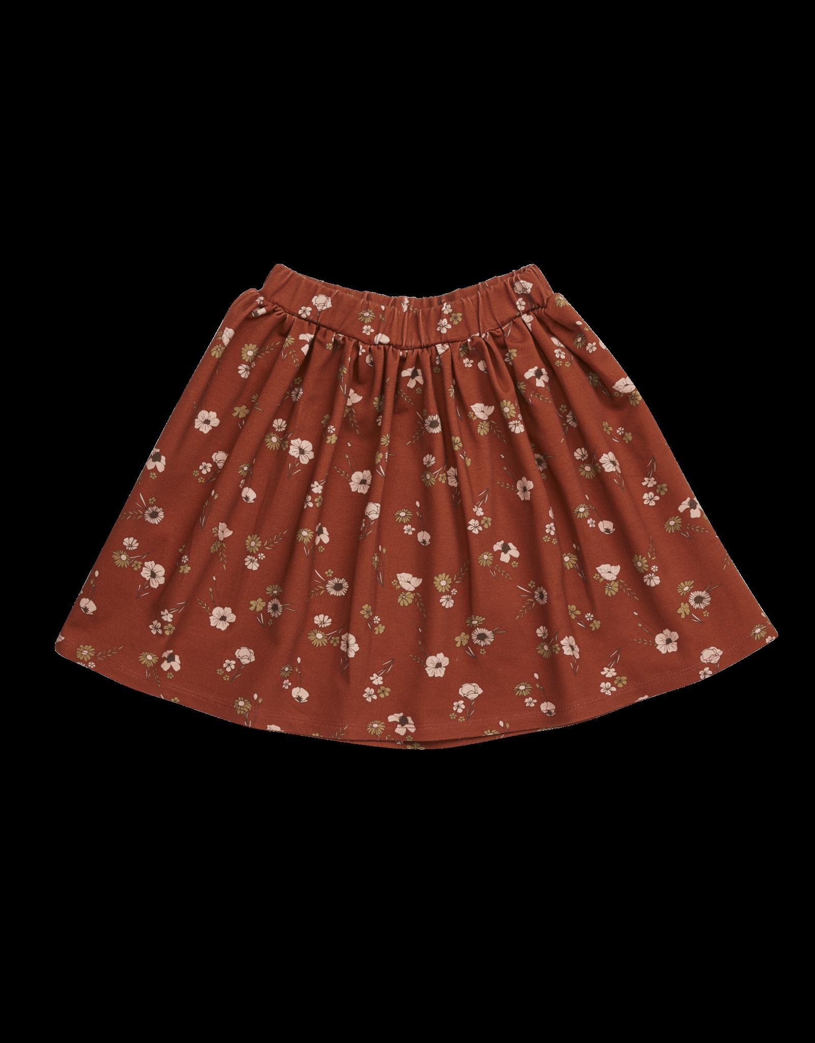 Blossom Kids Skirt Festive Floral - Dusty Terra