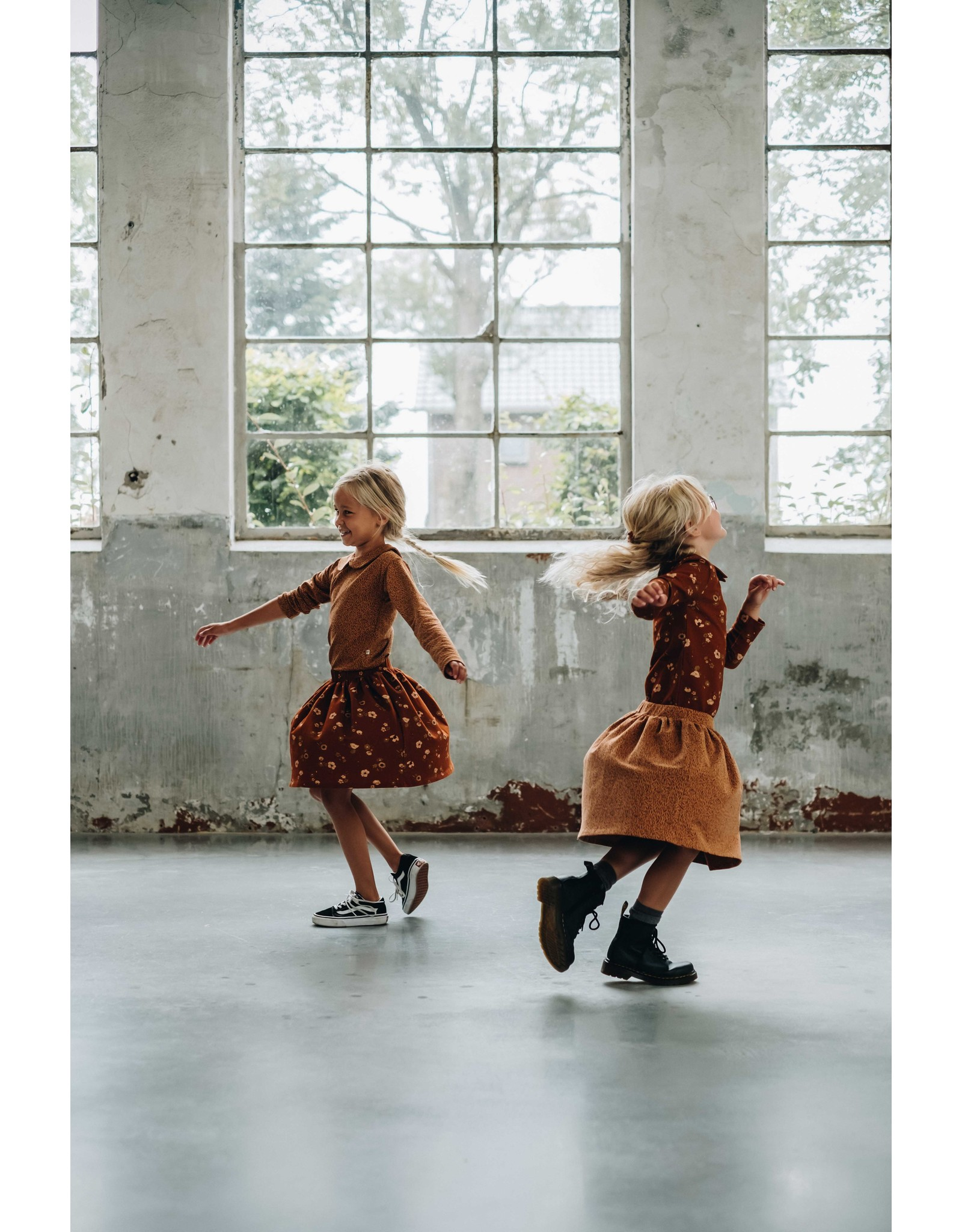 Blossom Kids Skirt Leave Drops - Caramel Fudge