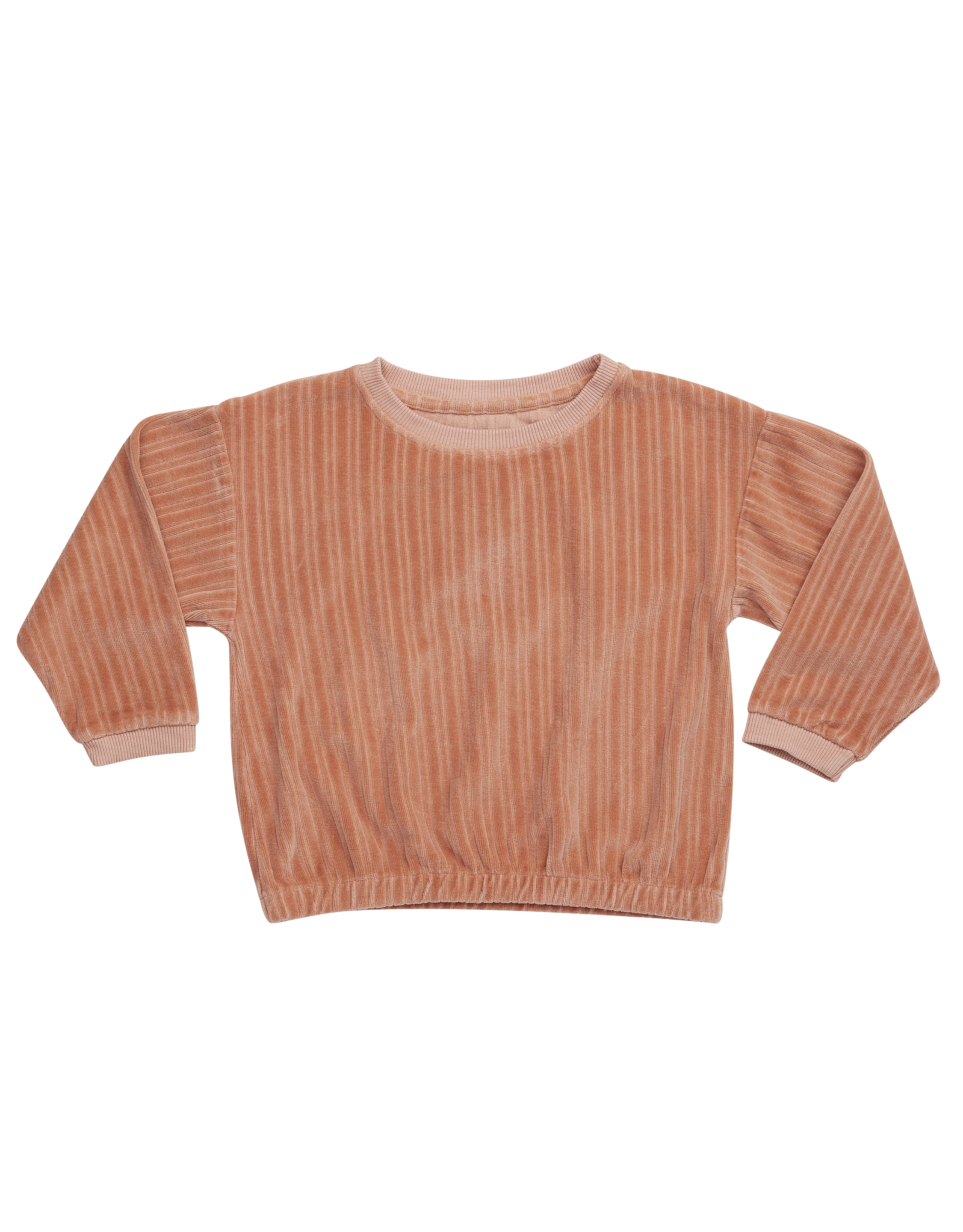 Blossom Kids Cropped Jumper - Peach Pastel