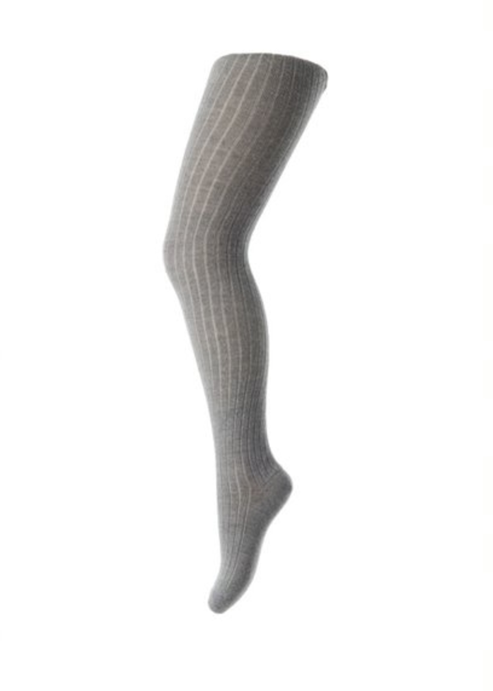 MP Denmark MP - Tights Cotton Rib - Grey Melange