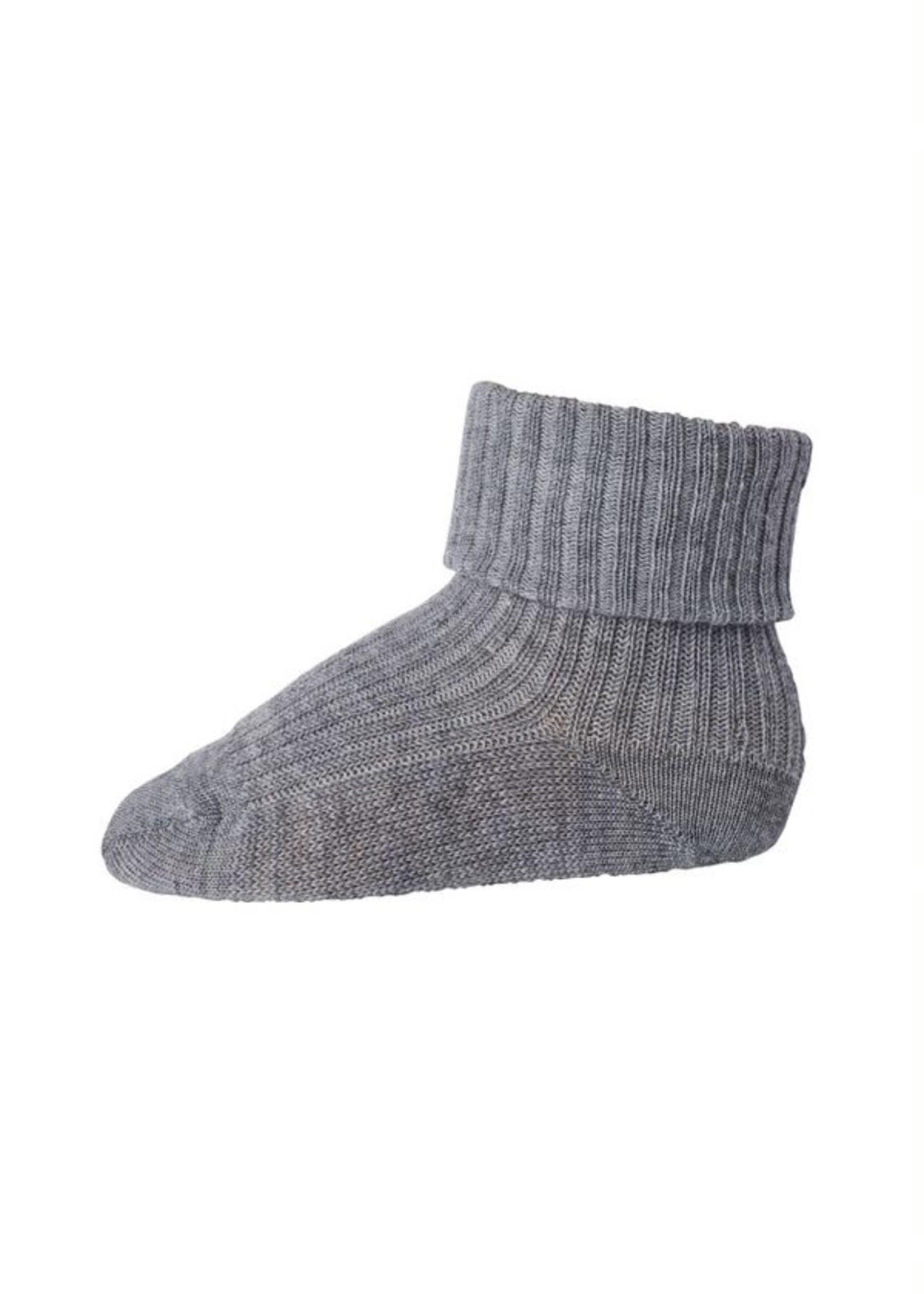 MP Denmark MP - Ankle Wool Rib - Grey Melange