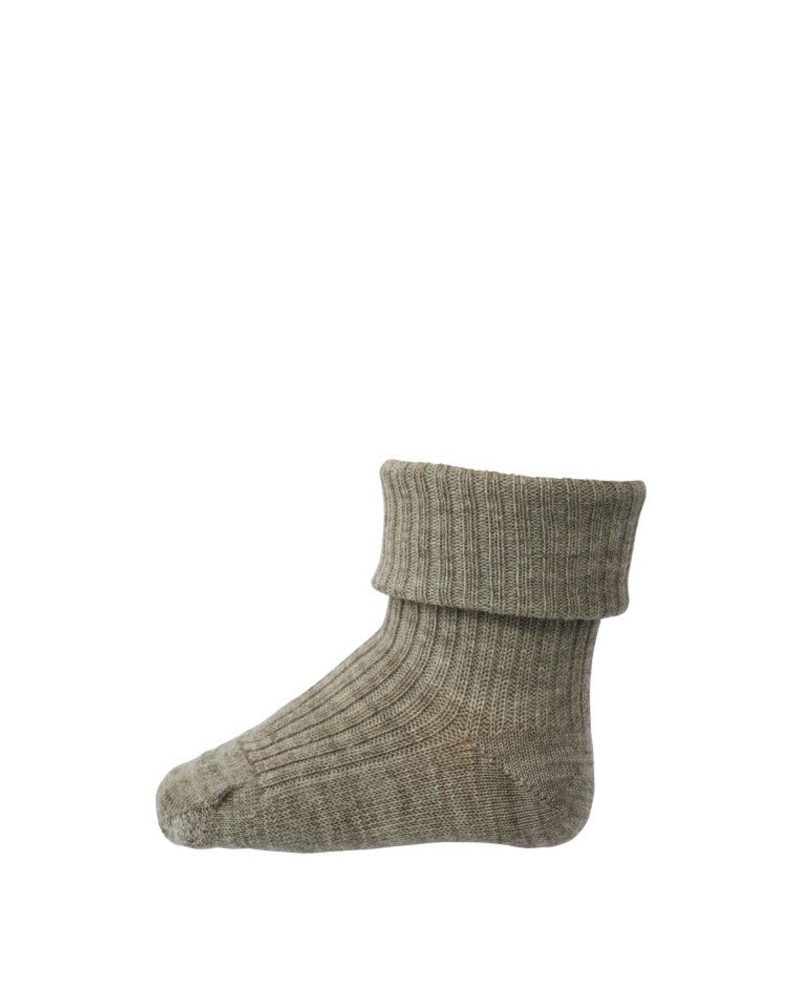 MP Denmark MP - Ankle Wool Rib - Light Brown Melange