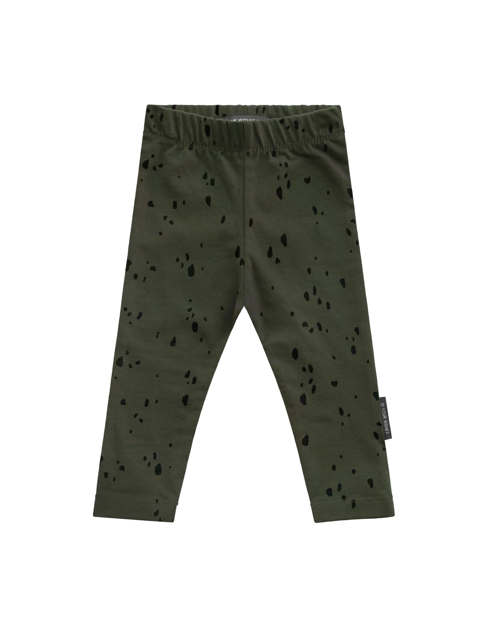 Your Wishes YW | Splatters | Legging | Desk Green
