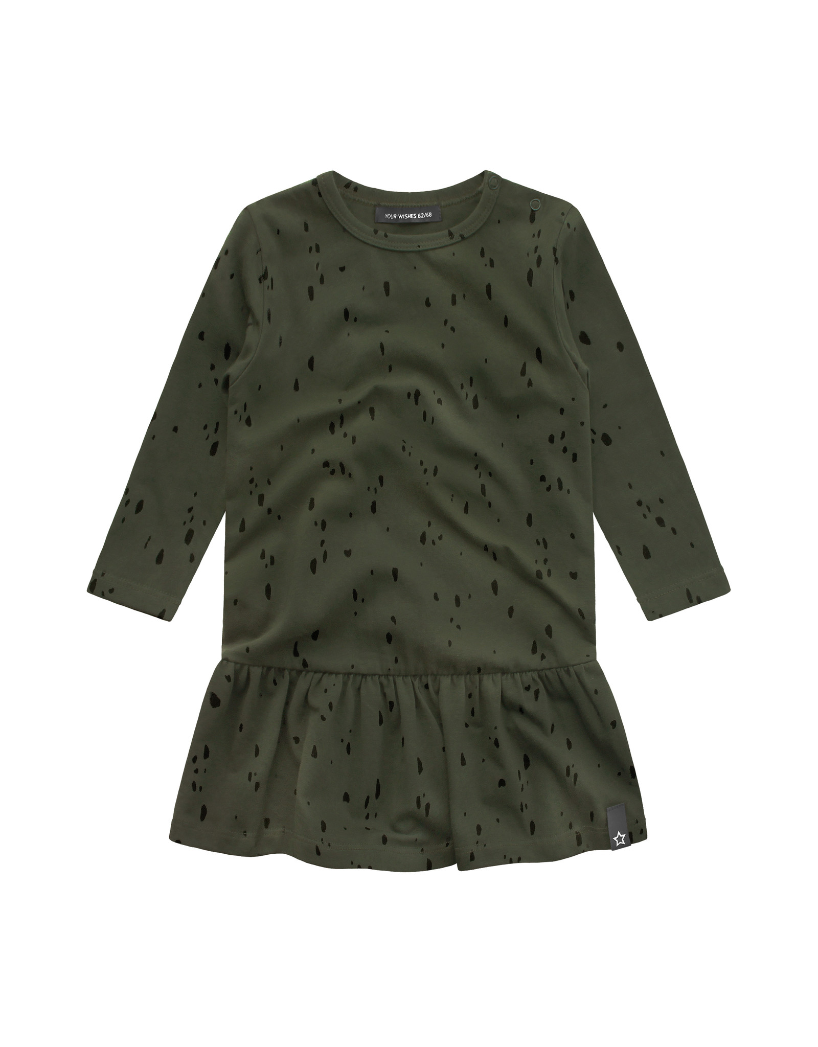 Your Wishes YW | Splatters | Shift Dress | Desk Green