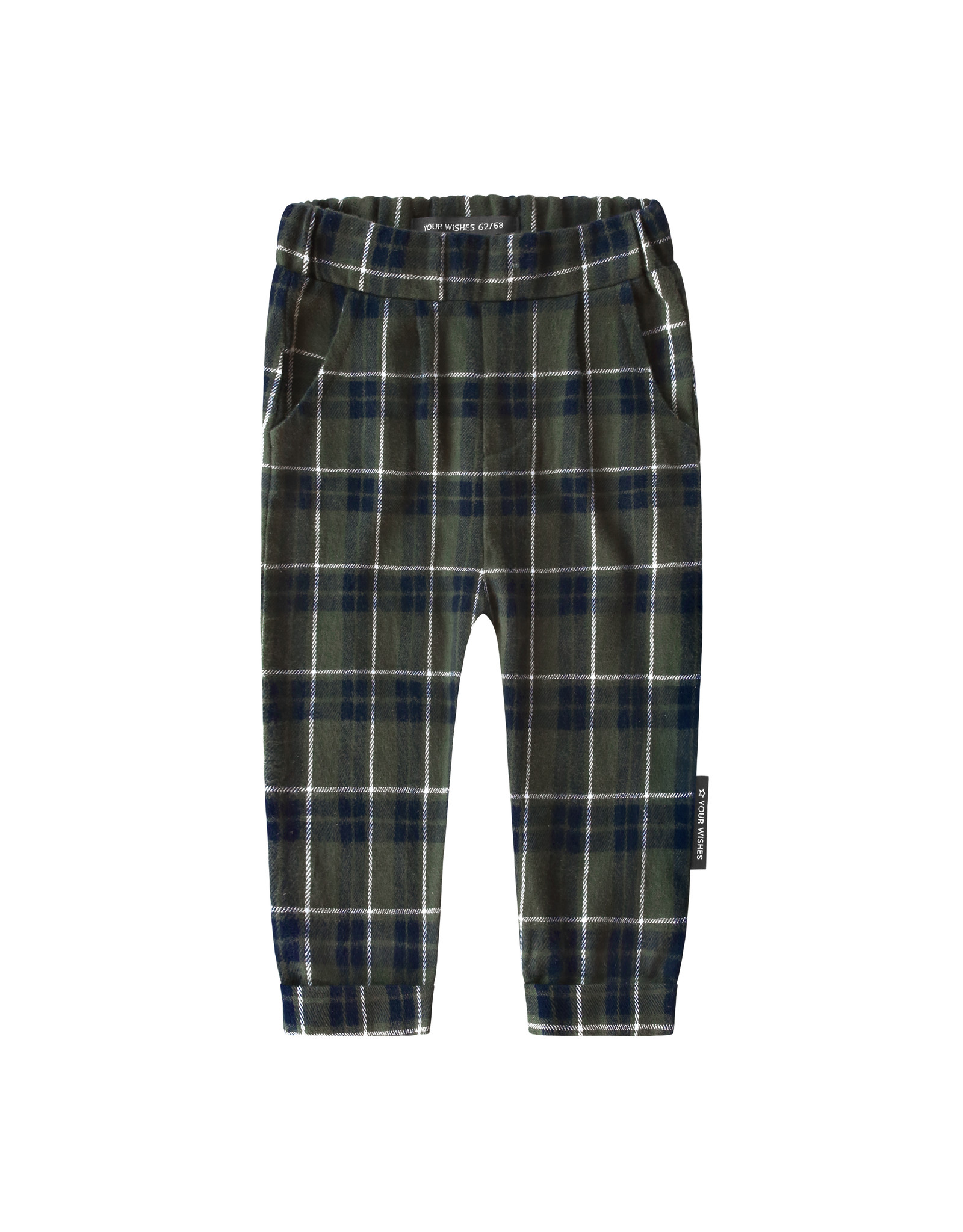 Your Wishes YW | Checks | Pleated Pants | Desk Green