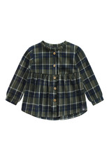 Your Wishes YW | Checks | Blouse Top | Desk Green