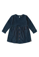 Your Wishes YW | Navy - Waffle | Button Dress