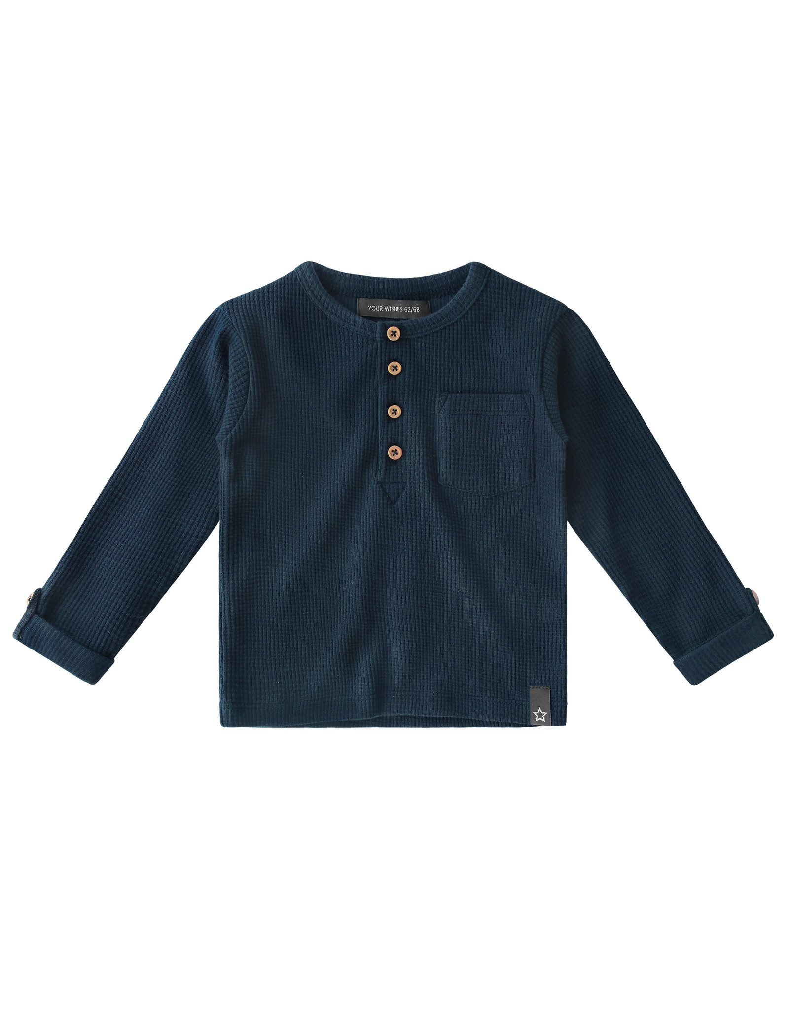 Your Wishes YW | Navy - Waffle | Grandpa Longsleeve