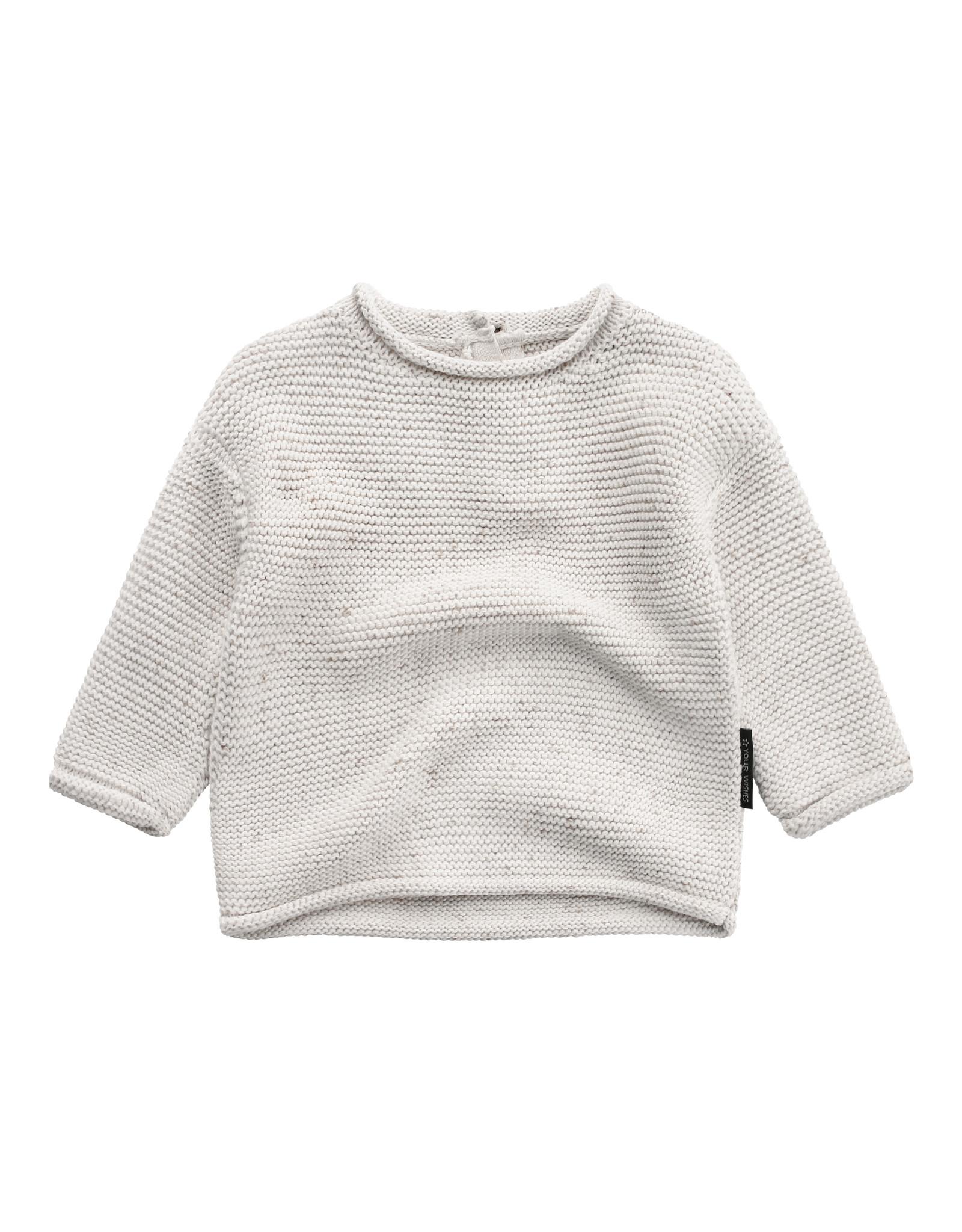 Your Wishes YW | Knit | Boxy Sweater | Chalk
