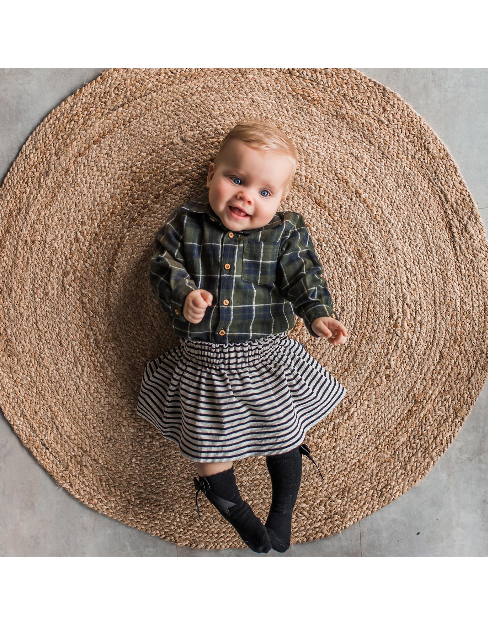 Your Wishes YW   Beige - Stripes   Skirt   Chalk