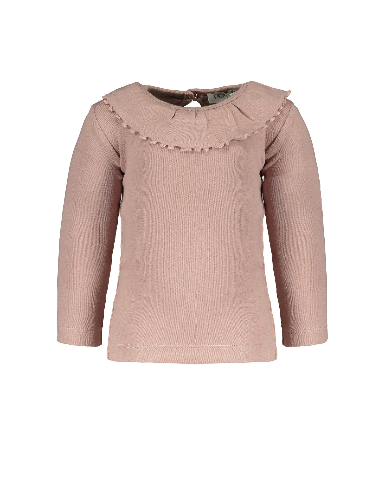 Pexi Lexi Shirt LS Ruffle - Dusty Rose