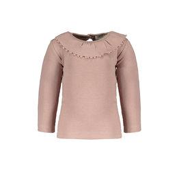 Pexi Lexi PL - Shirt LS Ruffle - Dusty Rose