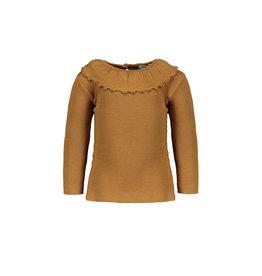 Pexi Lexi PL - Shirt LS Ruffle - Mustard