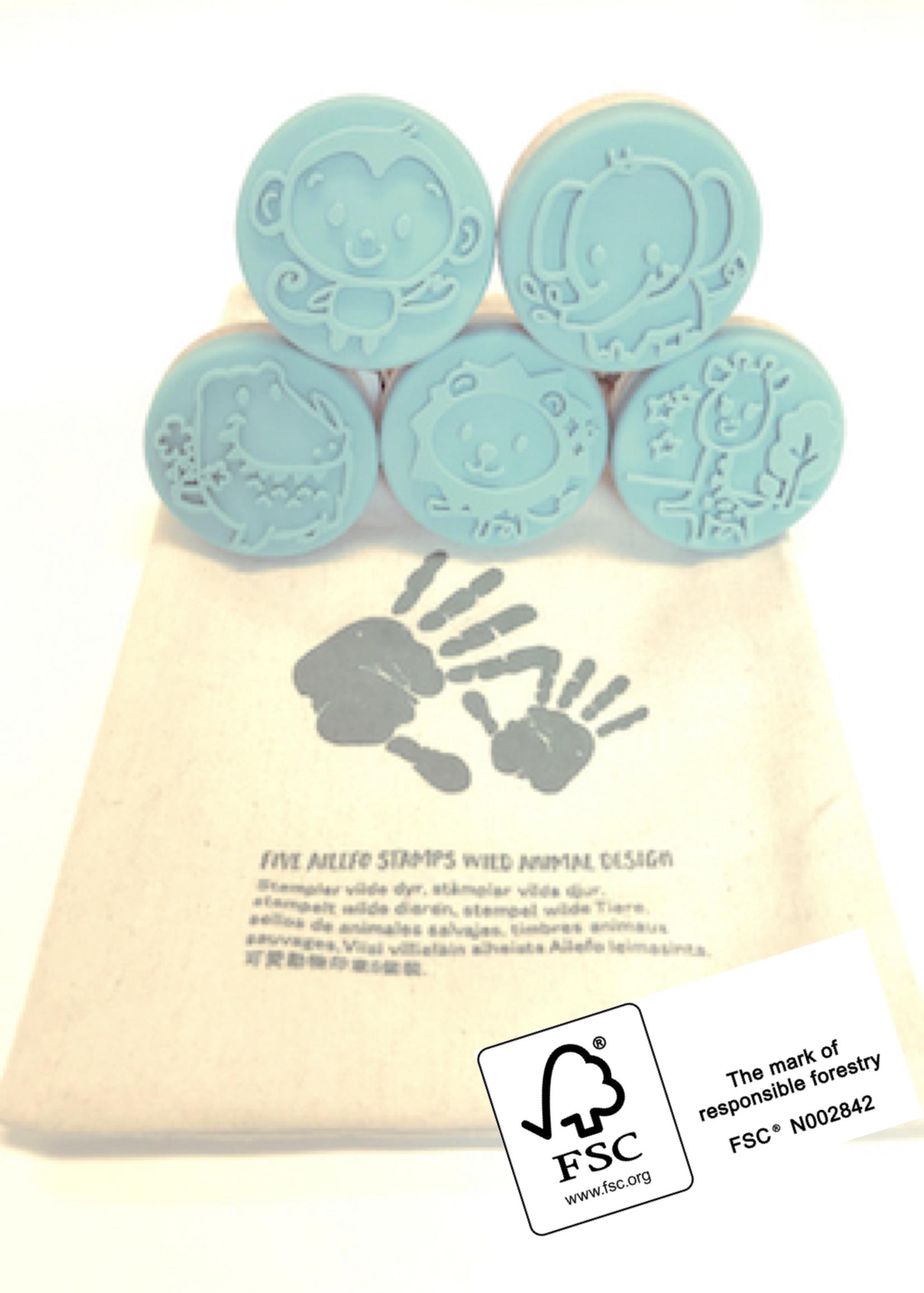 Ailefo Ailefo - Wildlife stories, Stamps (5 stuks)