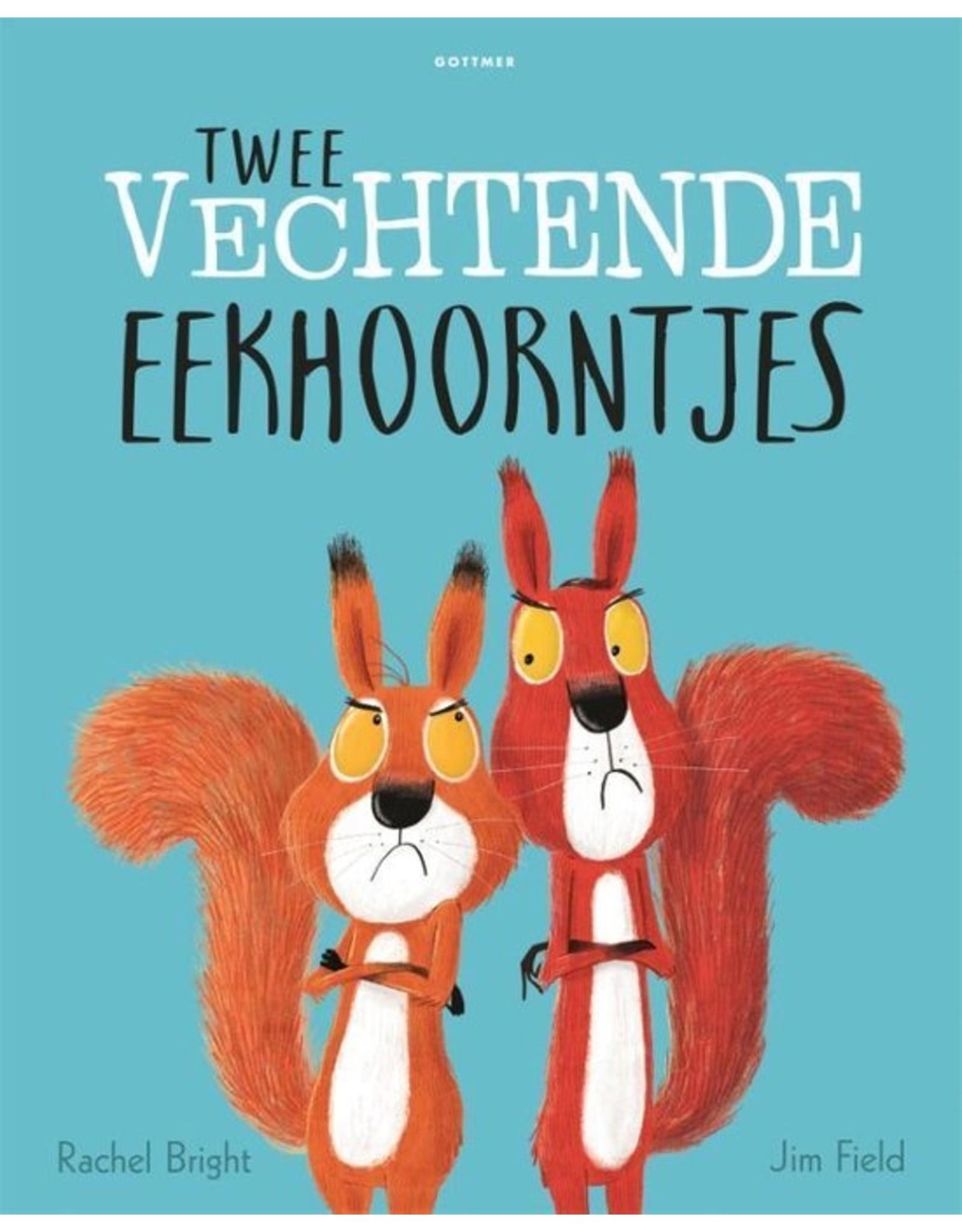 Harlekijn Boek - Twee vechtende eekhoorntjes