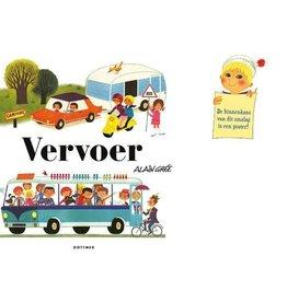 Boek - Vervoer, peuterboek in retro-look