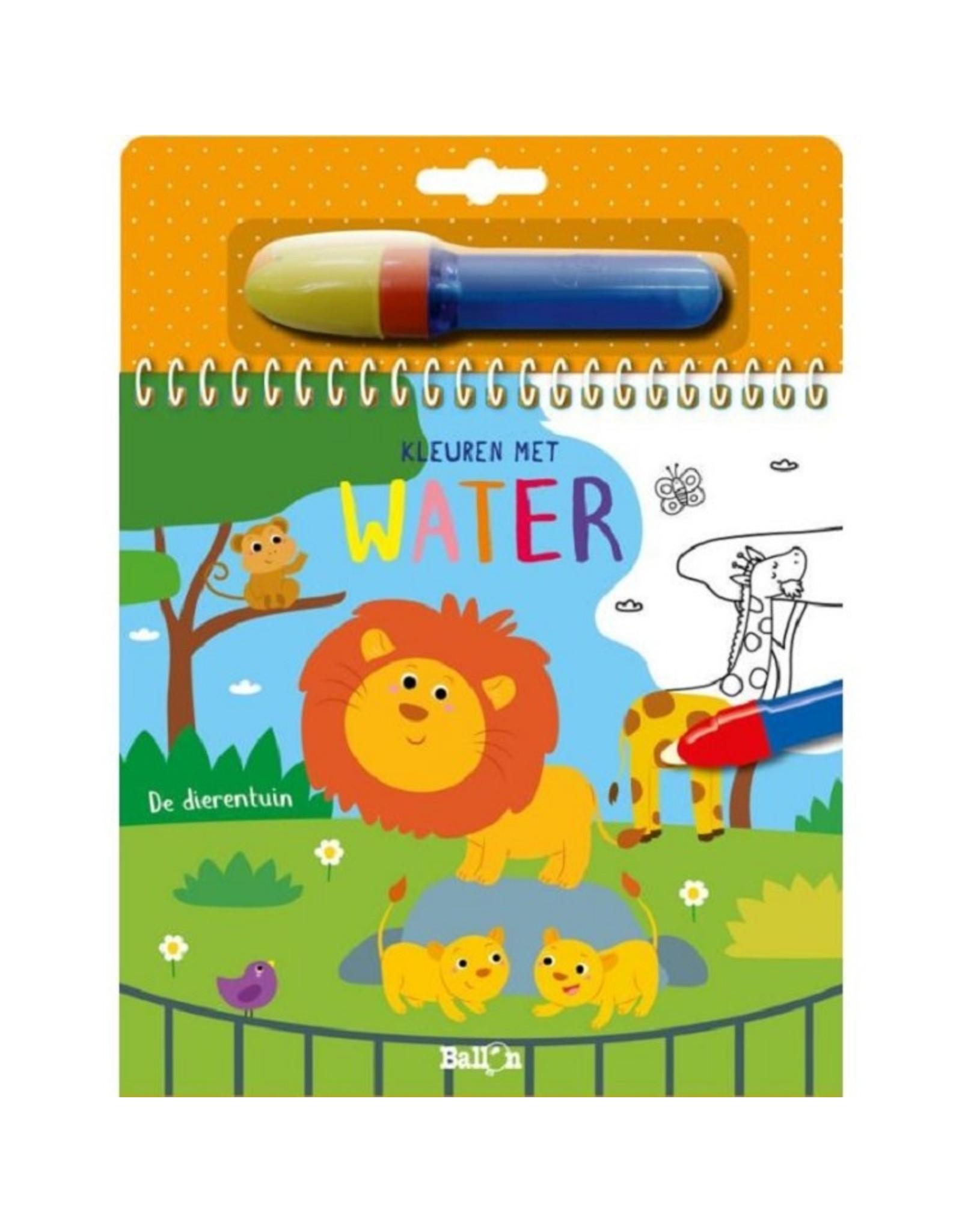 Harlekijn Boek - Kleuren met water: De dierentuin