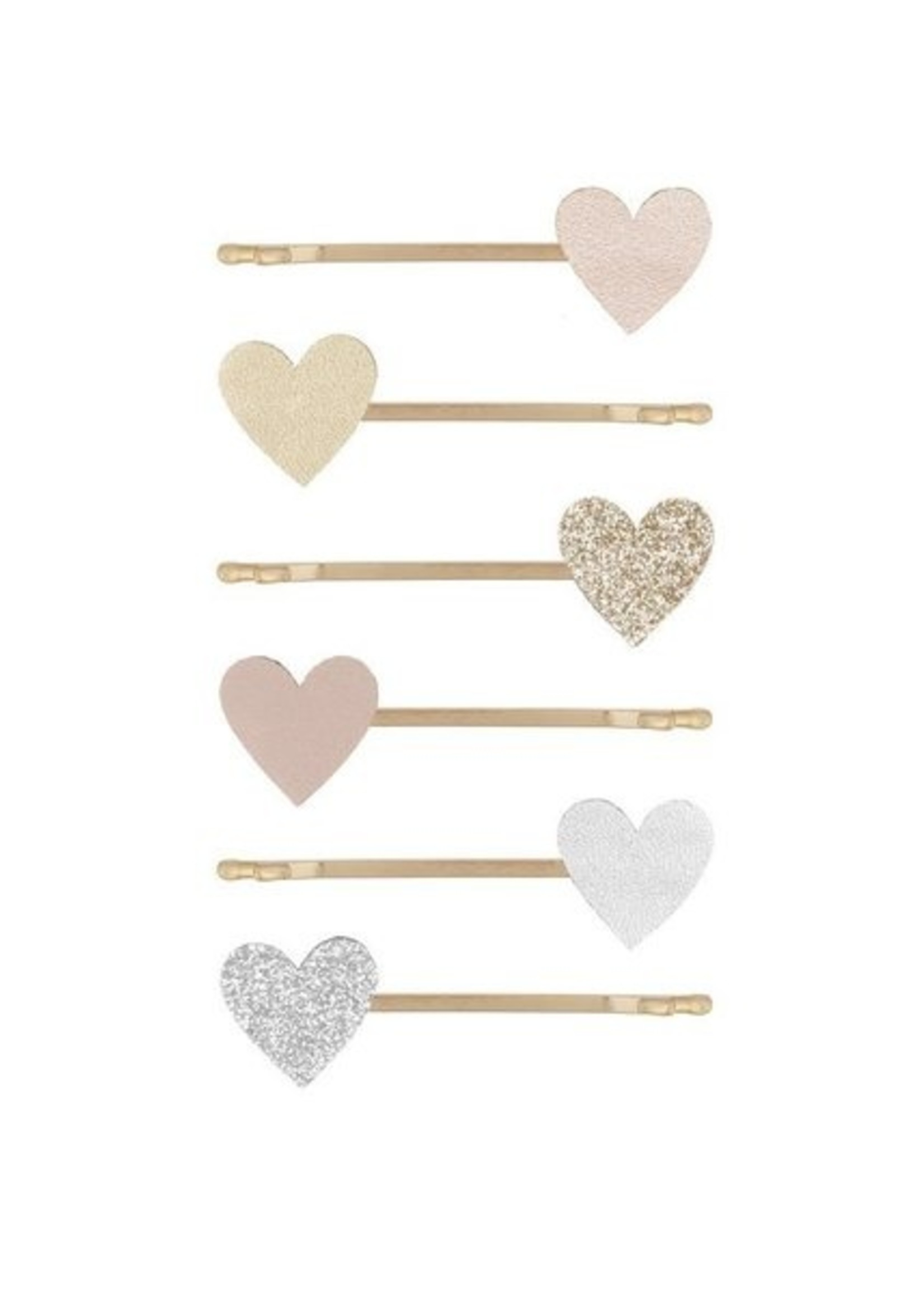 Mimi and Lula M&L - Love Heart Kirby Grips