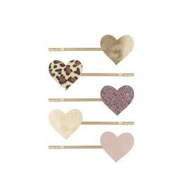 Mimi and Lula M&L - Leopard Heart Kirby Grips