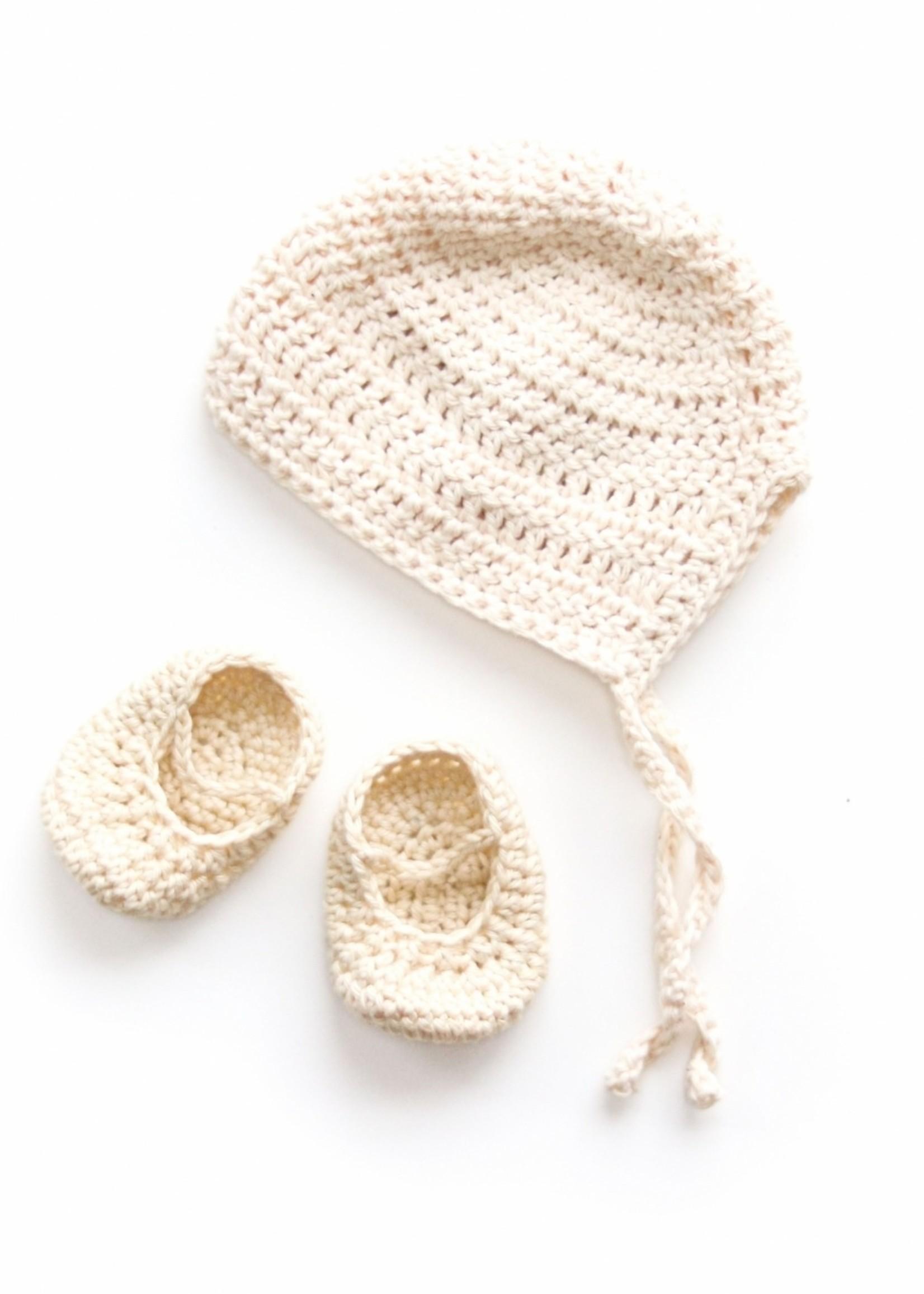 Nuki Nuby Pop - Bonnet  – Gehaakt Creme - Bonnet