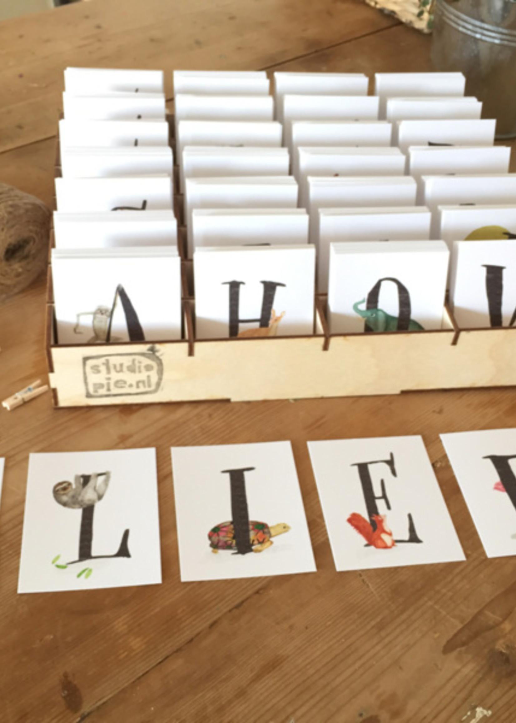 Studio Pie Studio Pie - Letter kaart