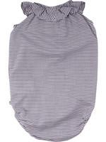 Müsli Müsli - Woven stripe sleeveless body - White/blue stripe