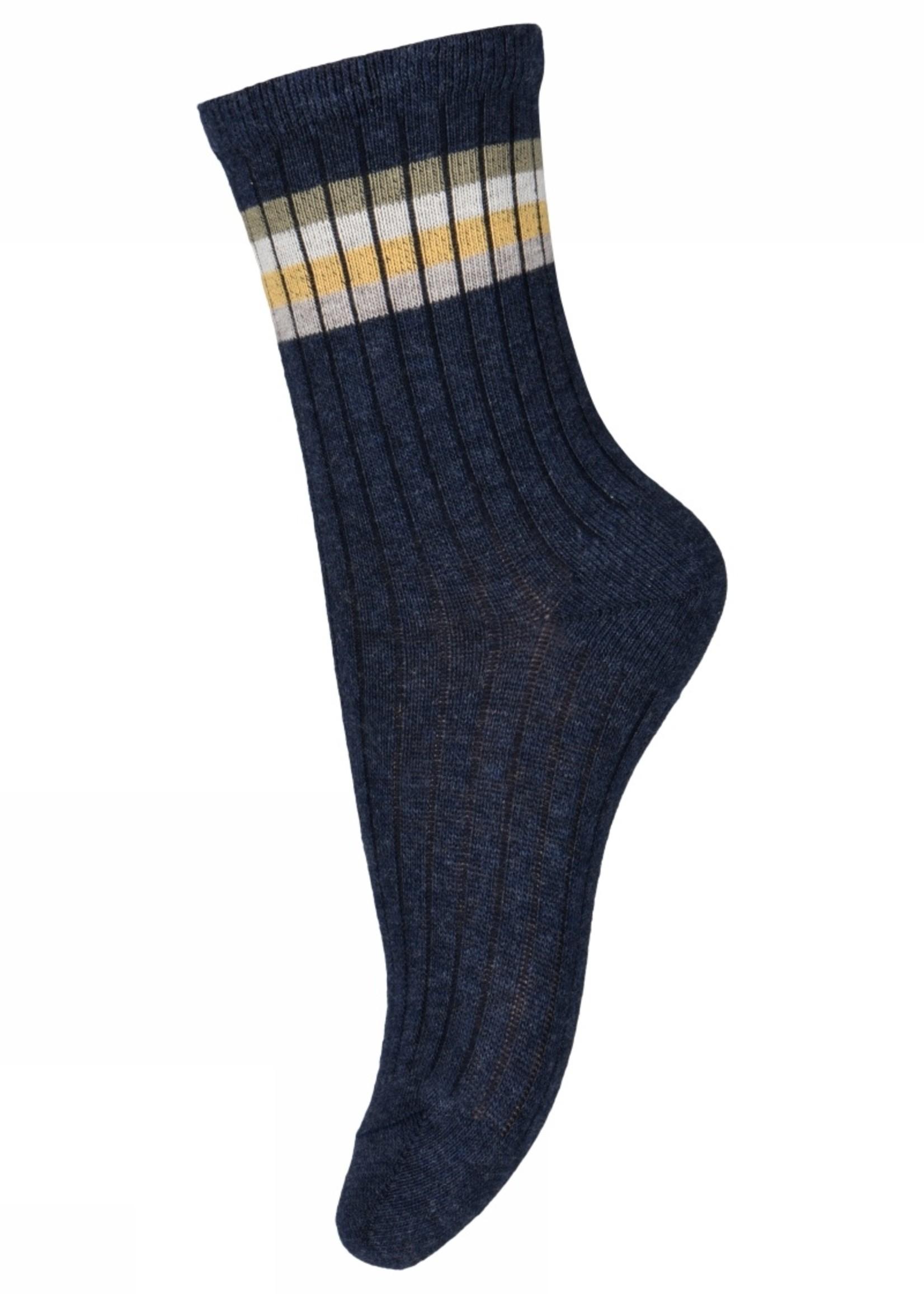 MP Denmark Aksel socks - Dark Denim Melange