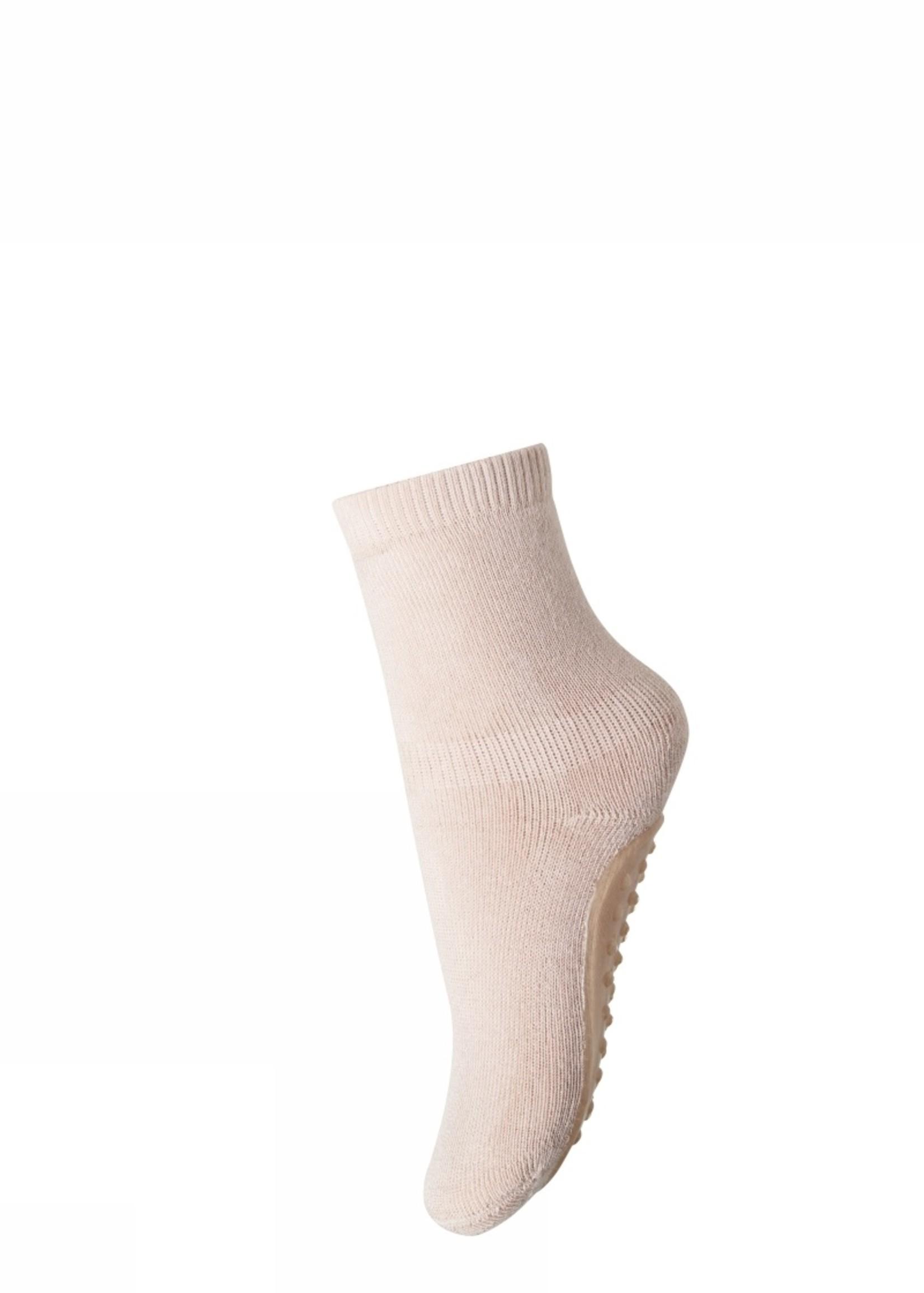MP Denmark Cotton socks with anti-slip - Rose Dust