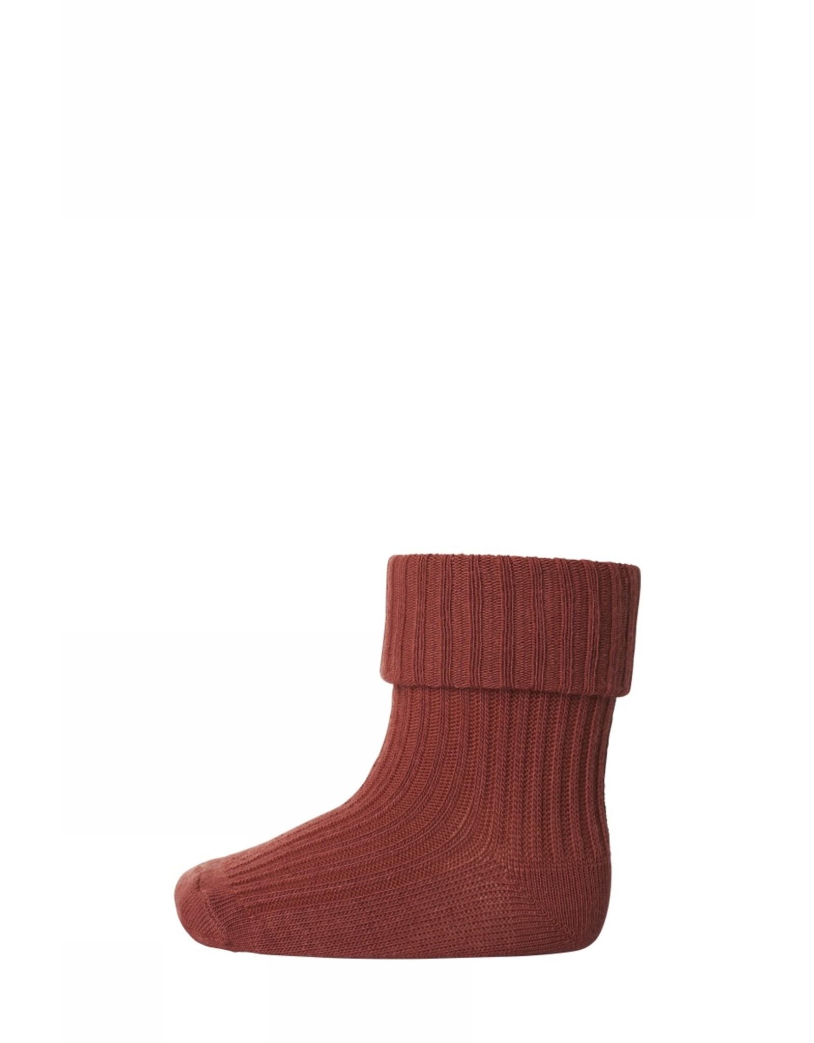 MP Denmark Cotton rib baby socks - Marsala