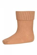 MP Denmark Cotton rib baby socks - Apple Cinnamon