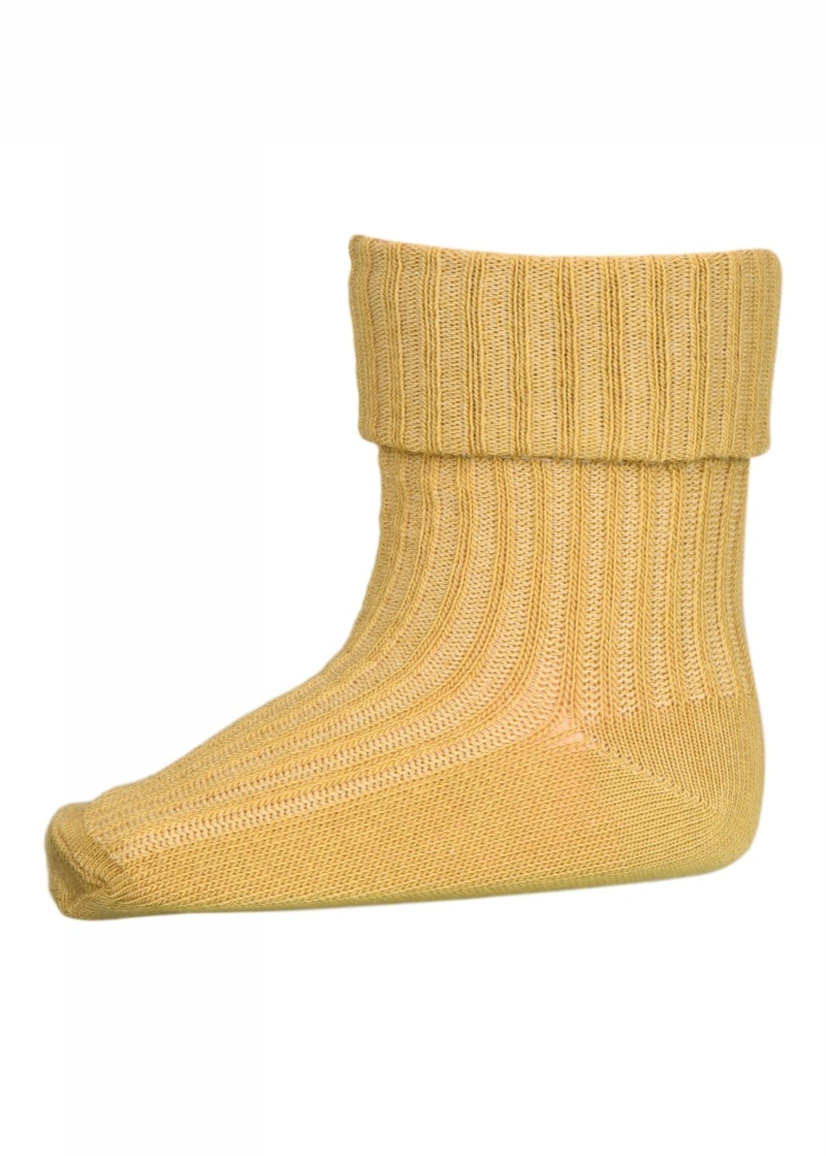 MP Denmark Cotton rib baby socks - Ochre